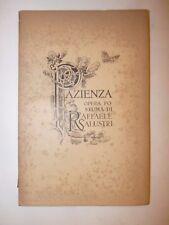 RAFFAELE SALUSTRI: PAZIENZA Op. Postuma 1896 Forzani Ritratto dedica Salvadori