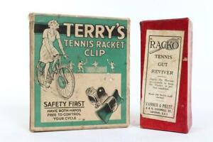"""Vintage ~ c1920 ~ """"Racko"""" Tennis Gut Reviver with Box ~ Unused"""