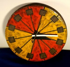 Herman Miller Bitossi/Nelson Italian Meridian Ceramic Clock 1974 ~ Please Read