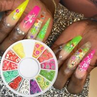 3D Nail Art Decorations Fruits Soft Clay Nail Tips Manicure Beautiful Lovely