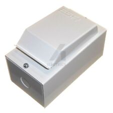 Small Compact 2 Module Metal Enclosure with 16 Amp Single Pole MCB Breaker New