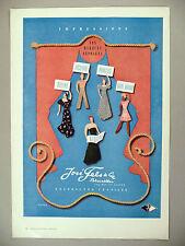 Jose Fels Textiles PRINT AD - 1947 ~~ fashion, fabric ~ Ricard art