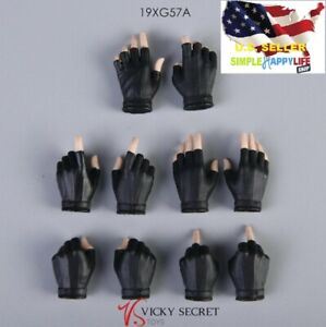 1/6 Female Black Gloves Hands Accessory Fit 12'' figure Phicen hot toys ❶USA❶