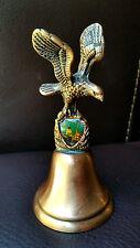 "4.25"" Souvenir Salt Lake City Copper Bell Signed CENTURY CANADA - Bald Eagle"