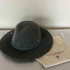 fa7ddbd1f2360 Brand New genuine HELEN KAMINSKI Grey wide brim Felt Hat rollup to carry