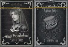 Alice of Wonderland Silver Playing Cards Poker Size Deck Limited Edition Custom