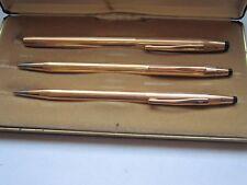 CROSS 14k Gold Filled Trio Ball Point/Pencil/Selectip Pen Set In Case