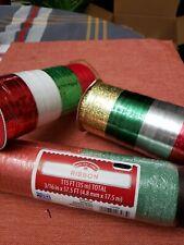 Holiday Time 3 Packs Variety Ribbon Curling & Regular 415 feet total