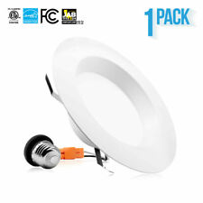 "PARMIDA 5/6"" 15W LED Retrofit Recessed Downlight Metal Trim Dimmable Can Light"