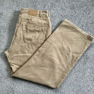 Mens Ted Baker 100% Cotton Beige Trousers W36