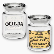 Hasbro Ouija Board Image Apothecary Style Clear Glass Jar with Lid NEW UNUSED
