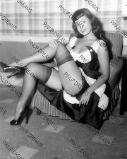 "Bettie Page Vintage 10"" x 8"" Photograph of Pin-up Burlesque Queen 1950s reprint"
