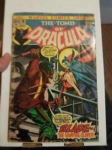 Marvel Tomb of Dracula 10; GRAIL; BLADE; low grade