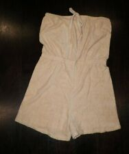 Vintage 1970's Beige Terry Cloth Romper Never Worn With Tags Sz L