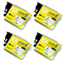 4 YELLOW Ink Cartridge Compatible for Brother LC61 MFC J220 J265W J270W