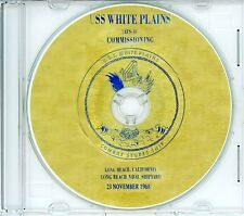 USS White Plains AFS 4 Commissioning Program 1968 on CDs Navy Plank Owners