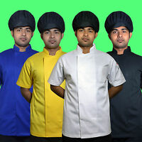 Five Star Short Sleeve Chef Jacket Available Different Colors for Unisex.