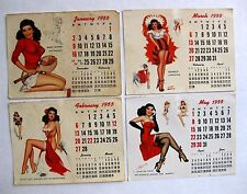 1955 Thompson Pin Up Girl Picture Calendar Desk Top Calendar Page Refill