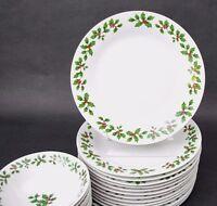 "(1) Christmas Dinner Plate Royal Norfolk 10 1/2"" Holly Berry Design"