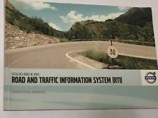 VOLVO S60 & V60 ROAD & TRAFFIC INFORMATION RTi SATNAV HANDBOOK BOOKLET  2010/11