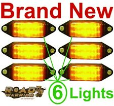 NEW 6 AMBER SUBMERSIBLE LED CLEARANCE LIGHTS/BULB,BOAT TRAILER RUNNING LIGHT