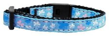 Mirage Pet Products Butterfly Nylon Ribbon Collar for Cat, Blue