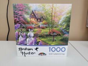 "Abraham Hunter ""Secret Garden Cottage"" 1000 piece jigsaw puzzle Pre-owned"