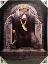 DGA Day of the Dead King Cali Throne Bear Stretched Canvas Wall Art 12x16 Inch