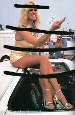 "Linda Vaughn ""Miss Hurst Golden Shifter"" Gold mini Skirt ""Angry""?? PHOTO!"