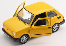 BLITZ VERSAND Fiat 126 p gelb / yellow Welly Modell Auto 1:27 NEU & OVP