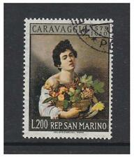 San Marino - 1960 Caravaggio (pintor) Sello-F/U-SG 625