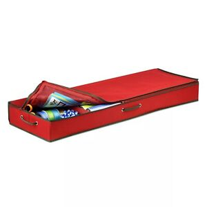 Honey-Can-Do SFT-01598 Holiday Storage 40-Inch Canvas Gift Wrap Organizer #C488