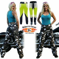 AUSTRALIAN Bikers Gear grey Camo Ladies Motorcycle Jeans with DuPont™ Kevlar®