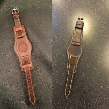 Unique Bund Watch Strap Premium Horween Chromexcel Leather Modern Design