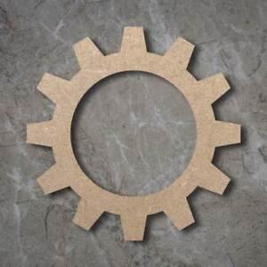 /Large MDF Cog Craft Wooden Shape Blank Wood 20 30 40cm Unpainted