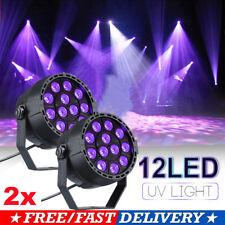 2pcs 12LED UV Stage Black Light Par Light DMX Wall Washer Lamp DJ Disco Lighting