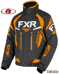 New 2021 FXR Men's Team FX Snowmobile Jacket Black/Orange Md 3XL