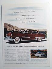 Vintage 1953 DeSoto Fire Dome V8 1950's Car Automobile Print AD