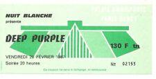 RARE / TICKET CONCERT - DEEP PURPLE RICHIE BLACKMORE LIVE A PARIS ( FRANCE) 1987