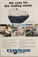 1966 Print Ad Evinrude Outboard Folding Motors with Traveling Case
