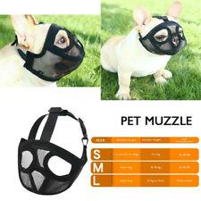 More details for pet dog muzzle anti barking biting mesh mask short faced breed french bulldog