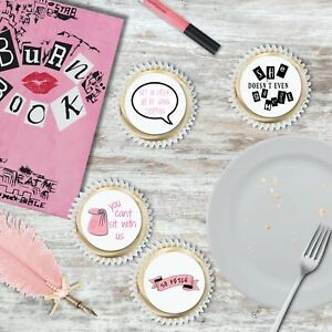 24 Pc Mean Girls Edible Wafer Cupcake Toppers Party Girls Night In Bachelorette