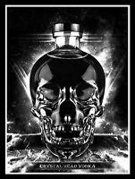 Crystal Head Vodka, Retro metal Sign/Plaque Wall vintage / Bar Gift
