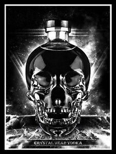 Crystal Head Vodka, Retro metal Sign/Plaque Wall vintage / Bar Gift