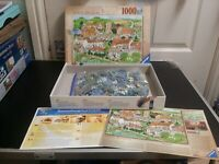 Ravensburger Premium Jigsaw Puzzle Rural Retreat 1000 Pieces Village Scene