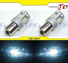 LED Light 6W 1156 White 6000K Two Bulbs Rear Turn Signal Replace Stock Lamp JDM