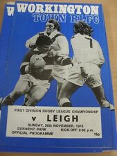 26/11/1978 Rugby League Programme: Workington Town v Leigh (light fold)