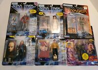 Star Trek Action Figure Lot of 7 - 1993-1997 - Tosk, Morn, Crusher, Pike, Seska