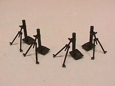 BMC Set of 4 Plastic Army World War II Modern Mortars