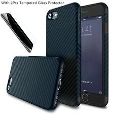 Flexible Shockproof Silica Carbon Fiber Case Cover for iPhone5se 6s 7 8Plus X 10